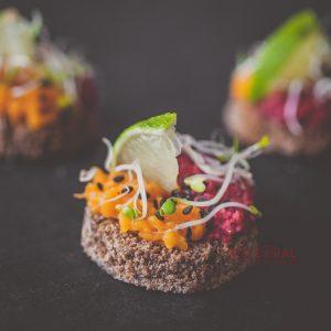 Хапка с червено цвекло и сладък картоф / Коктейл хапки / Кетъринг София